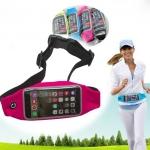 กระเป๋าคาดเอว แนวสปอร์ต สำหรับไอโฟน6 สีชมพูสะท้อนแสง