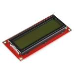 16x2 Character LCD - Black on Green (Sparkfun)