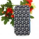 เคสไอโฟน5/5S เคสฝาพับ ลายดอกไม้สีดำ
