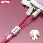 สายชาร์จ remax RC-025 2 in 1 Pink