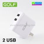ที่ชาร์จ GOLF 2 USB GF-U201 AC/DC Adapter ราคา 150 บาท ปกติ 375 บาท