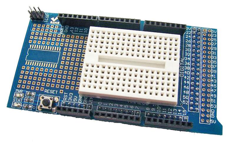Mega Prototype Shield + Free Mini Breadboard