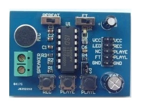 Voice and Sound Record + Playback Module - ISD1820