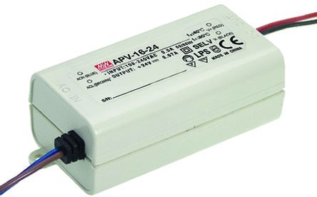 Switching Power Supply 16W 24V 0.67A (MEAN WELL APV-16-24)