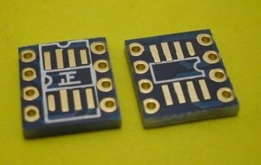 Dual IC SOP 8 to DIP PCB Converter