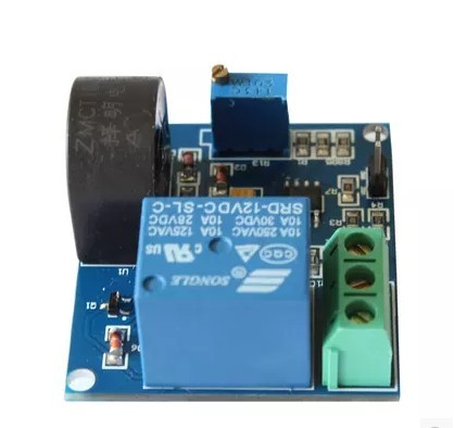 5A Over-Current Detection Sensor Module (AC Current Detector with 12V  Relay) B46