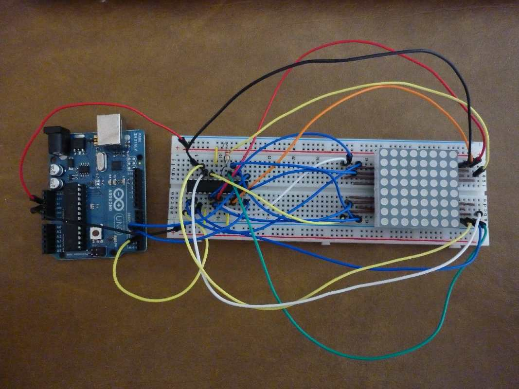 LED Dot Matrix Driver Module (MAX7219) 8x8 ขนาด 32mm x 32mm + สายไฟ