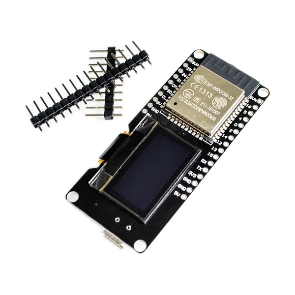 ESP32 WROOM Development Board with built-in OLED (WiFi + Bluetooth) + Free  Pin Header